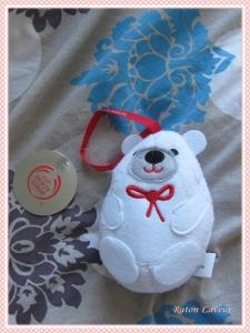 eponge bain ours polaire TBS