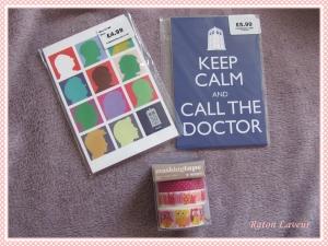 cartes postales doctor who et masking tape